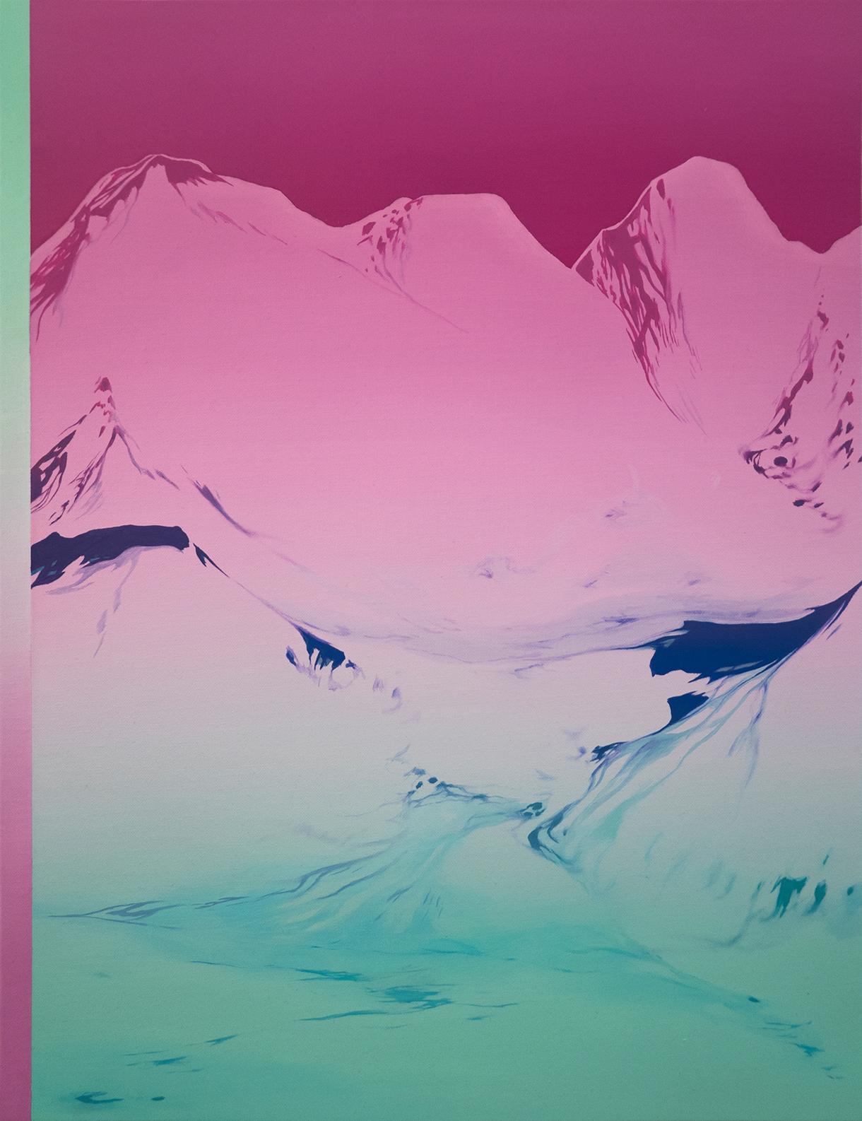 Glitchland 03, 2021. Óleo sobre lienzo. 65x50 cm